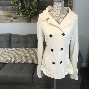James Perse Peacoat Sweater Jacket